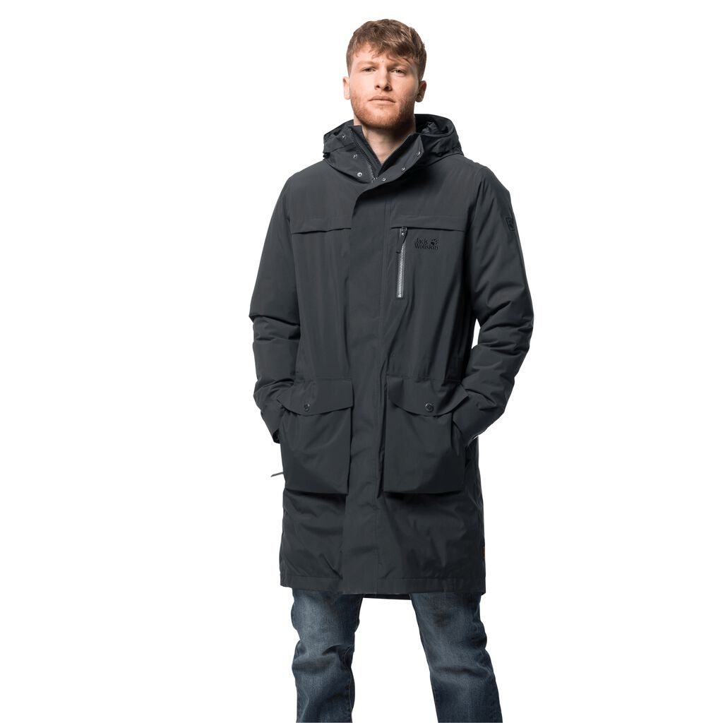 Jack Wolfskin COLD BAY Giacca Invernale Uomo Nero | QSWHJMV-16